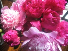 Peonies from the garden; for unhexing.