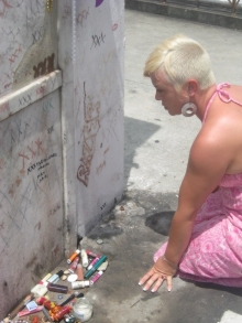 Me at one of the graves of Marie Laveau