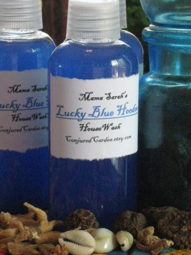 Lucky Blue Hoodoo House Wash-Voodoo-Conjure-Witchcraft-Santeria-Traditional  Hoodoo Bluing for Spiritual Cleaning