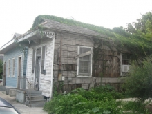 One of the abandoned houses after Katrina.