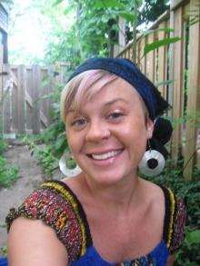In the herb garden...